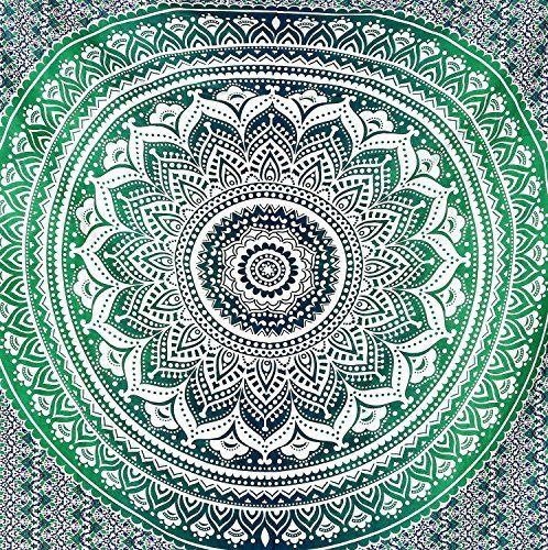 indischen Mandala Wandteppich, Überwurf Ombre Gobelin, Hippie Hippy Wandteppichen, Bettwäsche Bohemian Tagesdecke, Baumwolle Tischdecke, Picknick Strand Decke, Wohnheim Decor