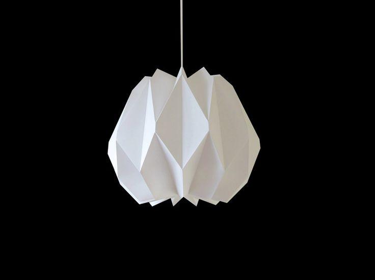 """Hängelampen - Origami Pendellampe """"Carla"""" Folie weiß S - ein Designerstück von Zill-Licht bei DaWanda"""