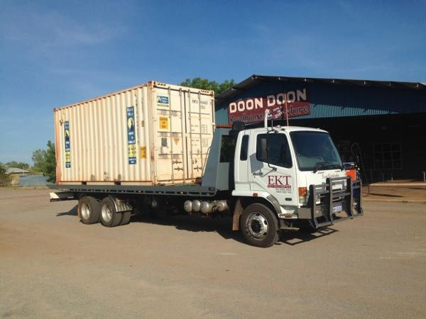 Sea container transport, hire and sales at East Kimberley Towing.