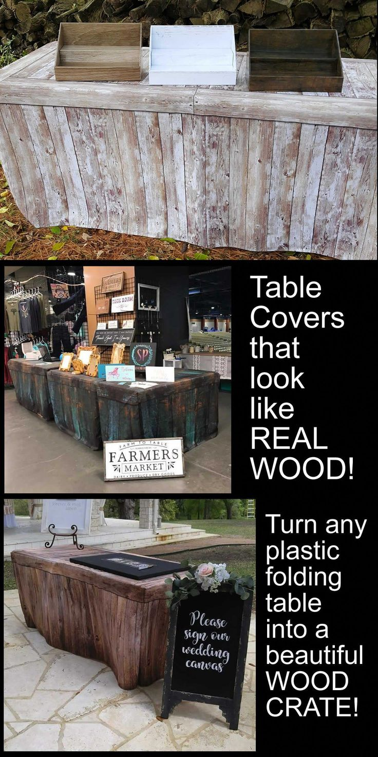 Fitted Table Cover Rustic Oak