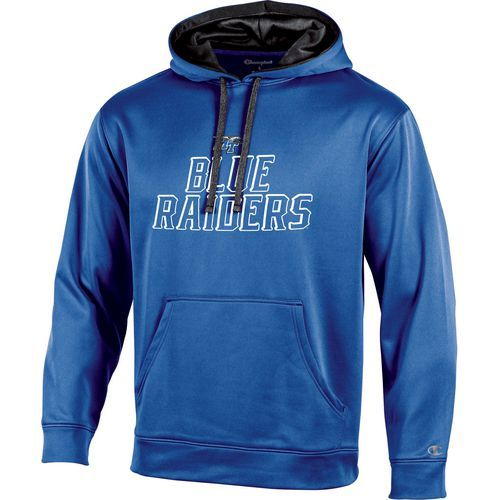Champion Men's Middle Tennessee State University T-Formation Hoodie (Blue Bright, Size Medium) - NCAA Licensed Product, NCAA Men's Fleece/Jackets a...