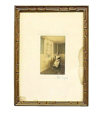 $99.99 ANTIQUE FRED THOMPSON UNTITLED COLONIAL INTERIOR SIGNED TINTED PHOTOGRAPH FRAME | ANTIQUE FRED THOMPSON UNTITLED COLONIAL INTERIOR SIGNED TINTED PHOTOGRAPH FRAME ANTIQUE FRED THOMPSON UNTITLED COLONIAL INTERIOR SIGNED TINTED PHOTOGRAPH FRAME  Offered here is a very nice, hand tinted, black and white silver print by Fred Thompson. Now , there were, in fact, two Fred Thompsons. The father, Frederich H. Thompson, and the son, Frederick M. Thompson. Mr. Thompson (1844-1909) senior started…