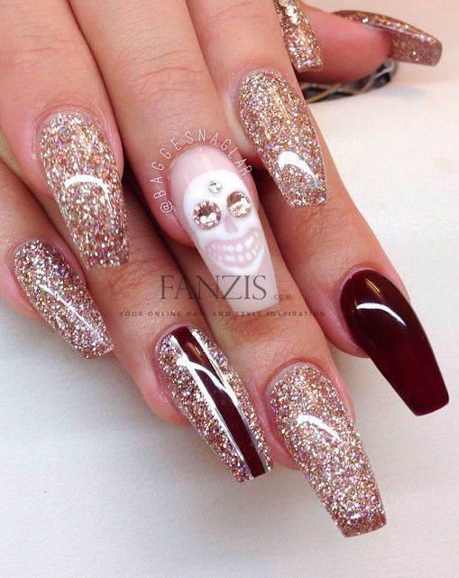 #halloween #long #beautiful #perfect #nails #baggesnaglar #fanzis