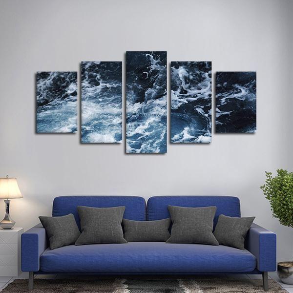 Ocean Surface Multi Panel Canvas Wall Art Modern Wall Canvas Wall Canvas Multi Panel Canvas Art