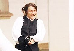 Mads....best...gif...EVER!!! What a dork. A very hot lovable dork