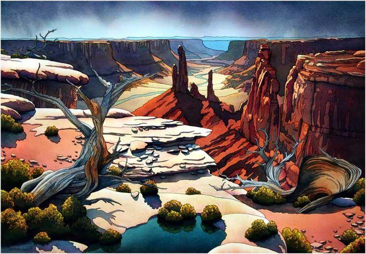 Reckoning watercolor by Jonathan Frank Studio #Moab #Utah #artist