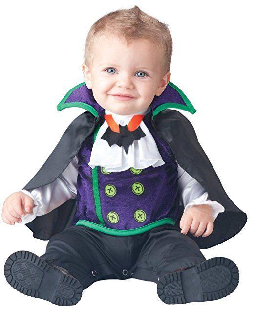 Boys Baby Deluxe Count Cutie vampiro In Character-Costume di Halloween
