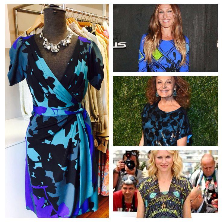 Diane von Furstenberg classic wrap dress, size 8, $269.