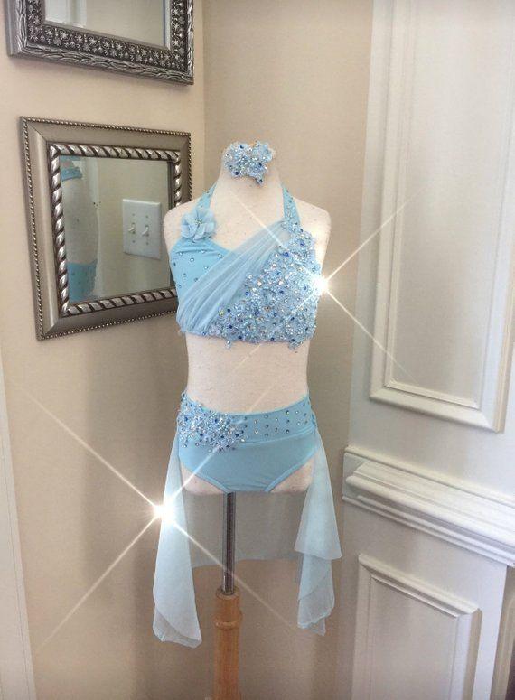 697ea46770e0 2 Piece Custom Lyrical Dance CostumeJazz or Contemporary | Etsy ...