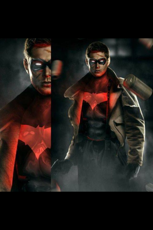 Jensen Ackles as Red Hood I mean it's canon, he voiced him ...