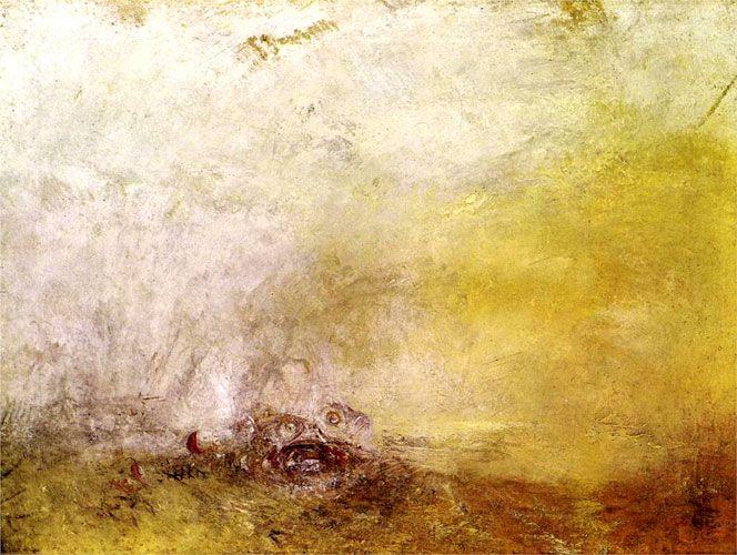 Уильям Тернер. Восход с морскими чудовищами. 1845 г.
