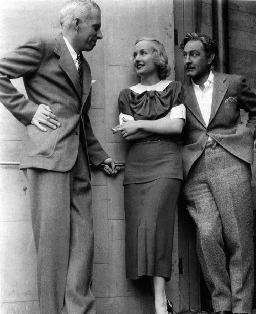 Director Howard Hawks with Carole Lombard and John Barrymore, 1934