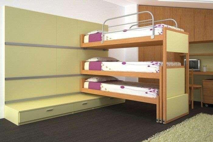 Letto A Castello Basso Scorrevole.Letti A Castello Scorrevoli Modelli E Prezzi Kids Bed Furniture
