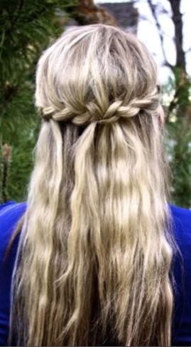 braided crown long hair style