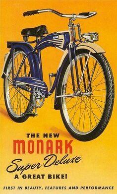 Vintage Advertising Posters | Monarch bicycle