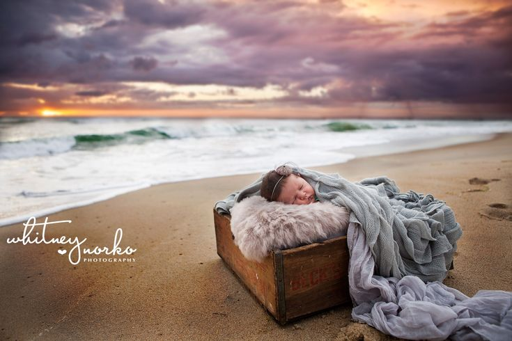 Newborn beach photography Outer Banks NC #beachbaby #waterbaby #beach #newborn