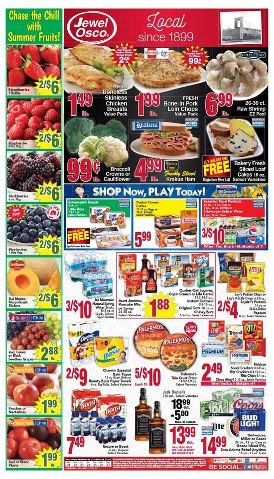 Weekly Sales Circular >> Jewel Osco Weekly Ad Flyer July 3 9 2019 Weekly Ad Circulars
