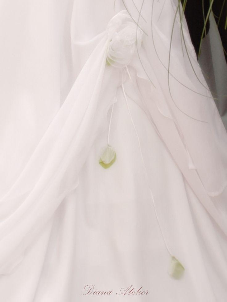 Habcsók Műhely: Virágdísz ruhára
