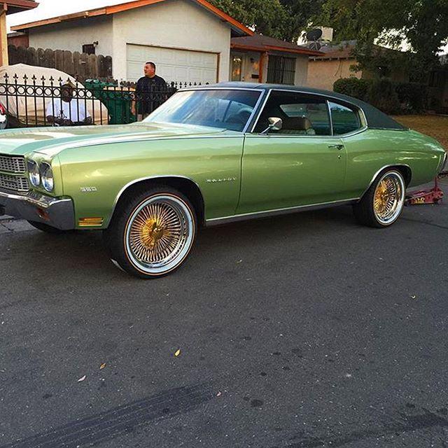 Cali Boy @caliboyscars 70 Chevelle 100 Spoke Daytons