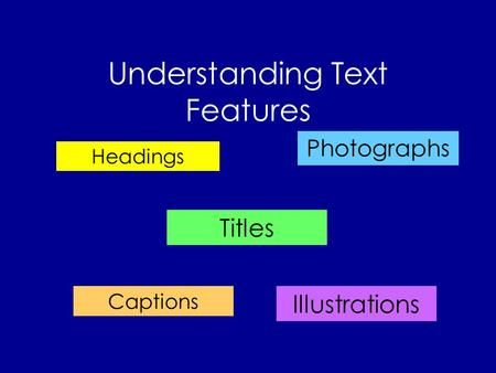 Understanding Text Features>