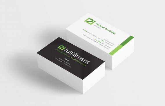 i2i Fulfillment logo, stationery and business card design. #fulfillment #distribution #warehouse #inventory #logistics #orderfulfillment #company Branding and web design by #Studiothink / Vancouver, BC #vancouver #SurreyBC #branding #design #stationery #brochure #website #webdesign #creative #agency