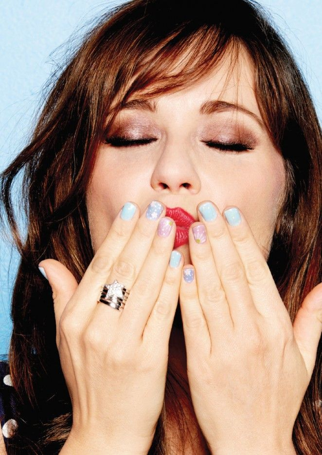 Zooey Deschanel for Cosmopolitan US June 2015 #nails #beauty