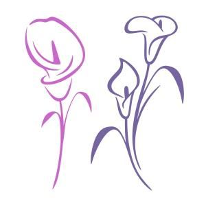 Calla Lily Flower Cuttable Design - Available for FREE today only 7/6/17