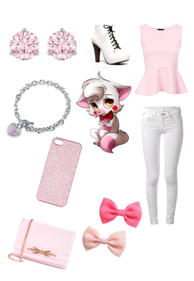 """Mangle from fnaf 2"" by ariannagotstyle ❤ liked on Polyvore featuring rag & bone, Qupid, Swarovski, BERRICLE, Freddy, Topshop, H&M and Ted Baker"