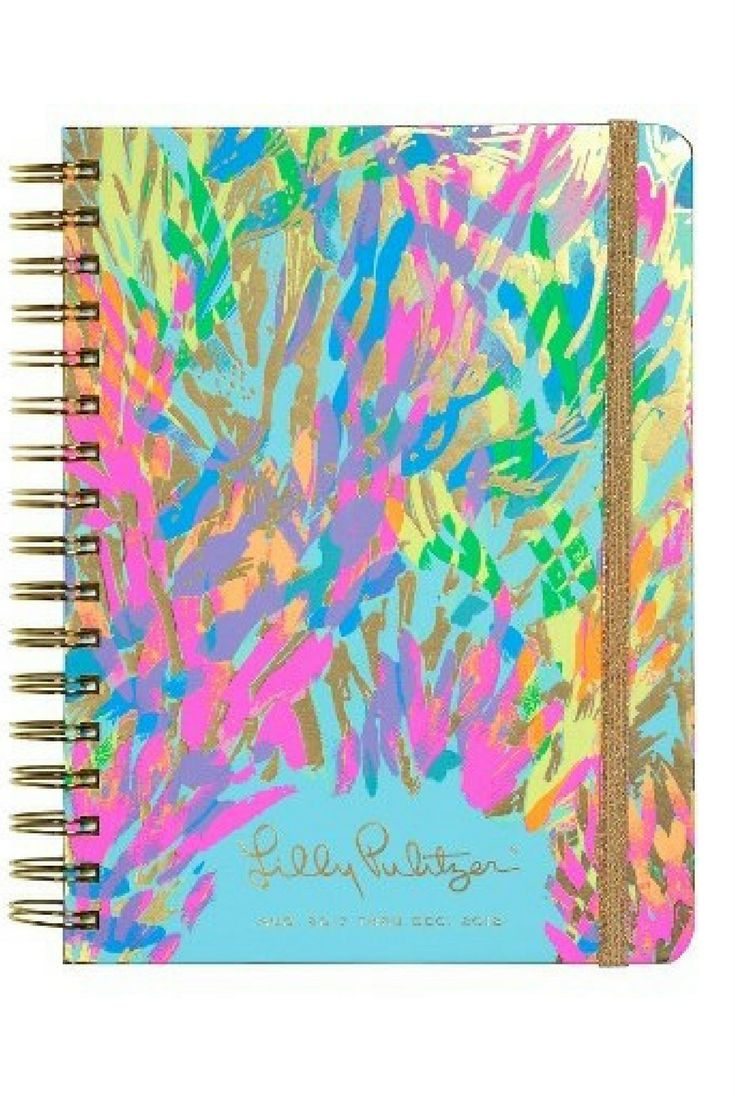 Keep your social schedule in order with this spiral-bound hardcover agenda featuring weekly and monthly calendars, colorful illustrations, coordinating stickers and fun horoscopes. By lily pulitzer. Two handy pockets are great for storing notes and other reminders, while an elastic band closure keeps your planner safe and secure. aff