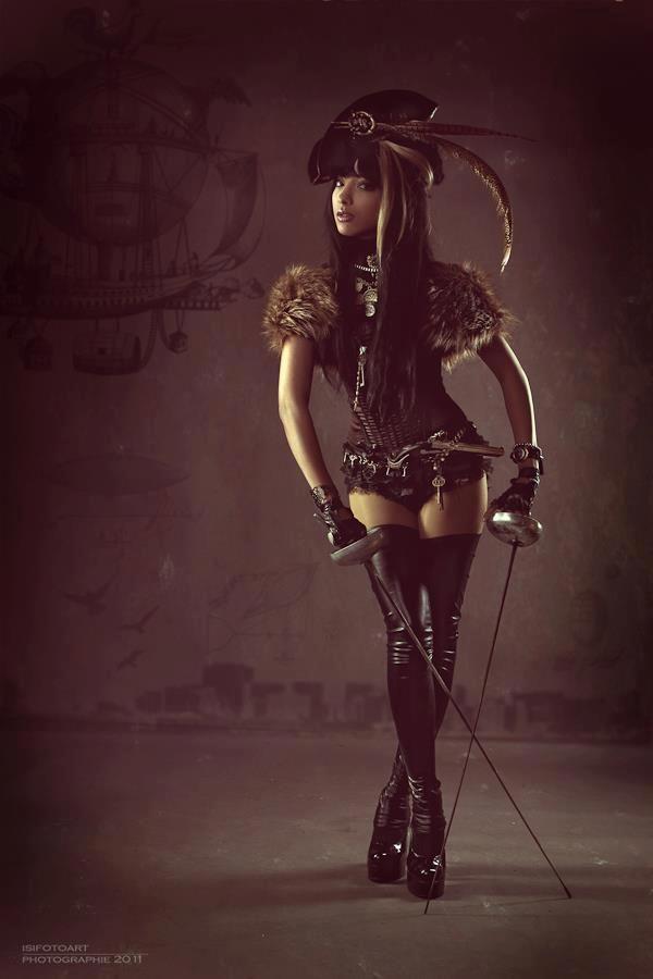 steampunk girl,steampunk couture!