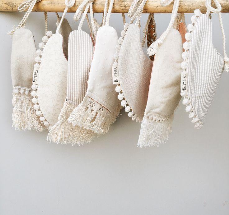 Neutral baby drool bibs from www.billybibs.com