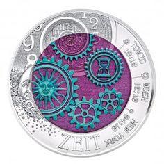 """Österreich 25 Euro Silber Niob 2016 """"Die Zeit"""""""