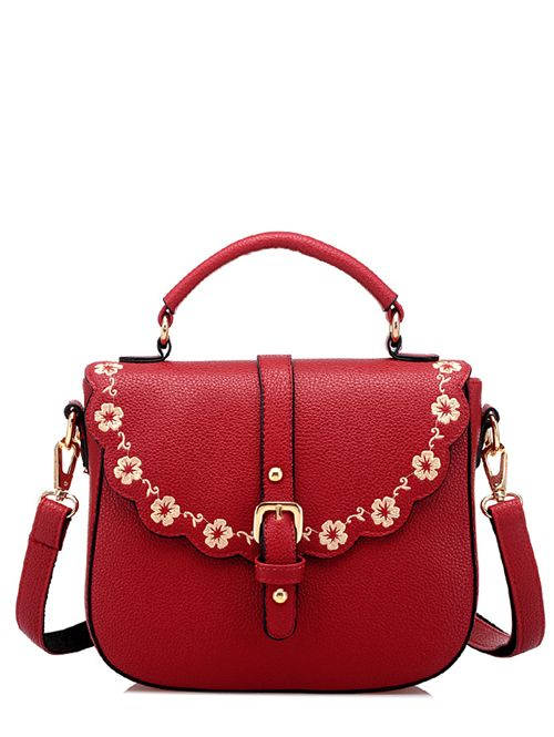 Stylish new embroidery graceful square shape handbags BG-D18