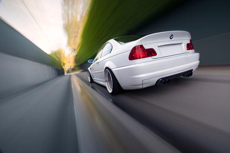 #BMW #E46 #M3 #Coupe #White #Angel