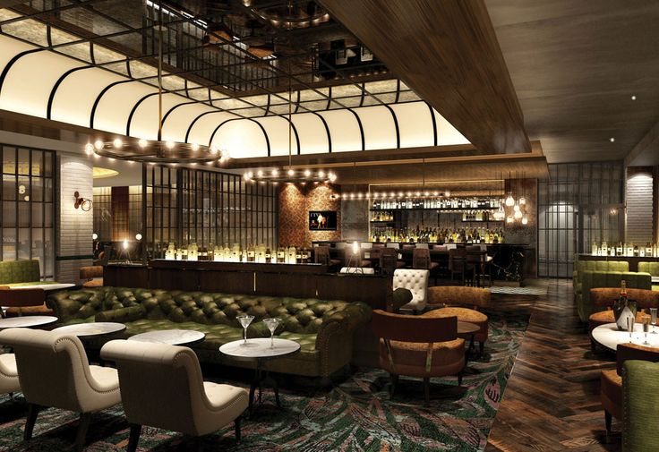 Hilton london bankside interior design hotel design bar design lounge design reclaimed - Lounge deco ...