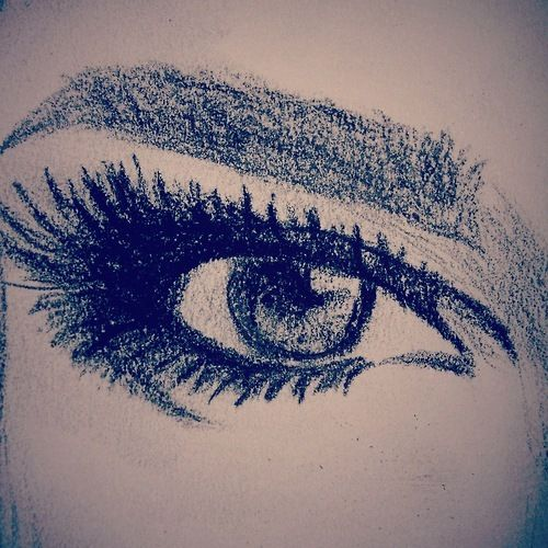Eye drawing. I personally think the eyes are one of the prettiest features on women
