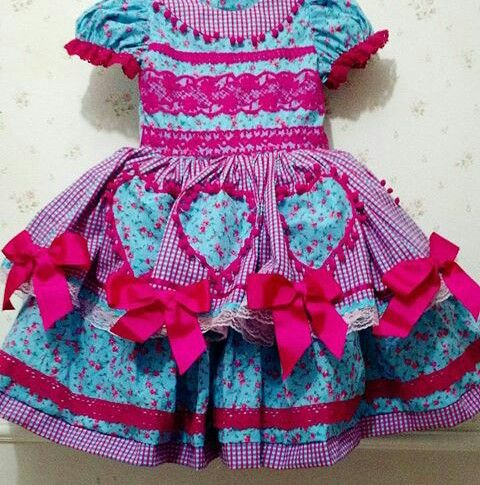 Vestido de São  João  encontrado na net