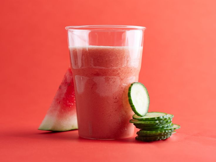 Watermelon-and-Cucumber Smoothie recipe from Food Network Kitchen via Food Network
