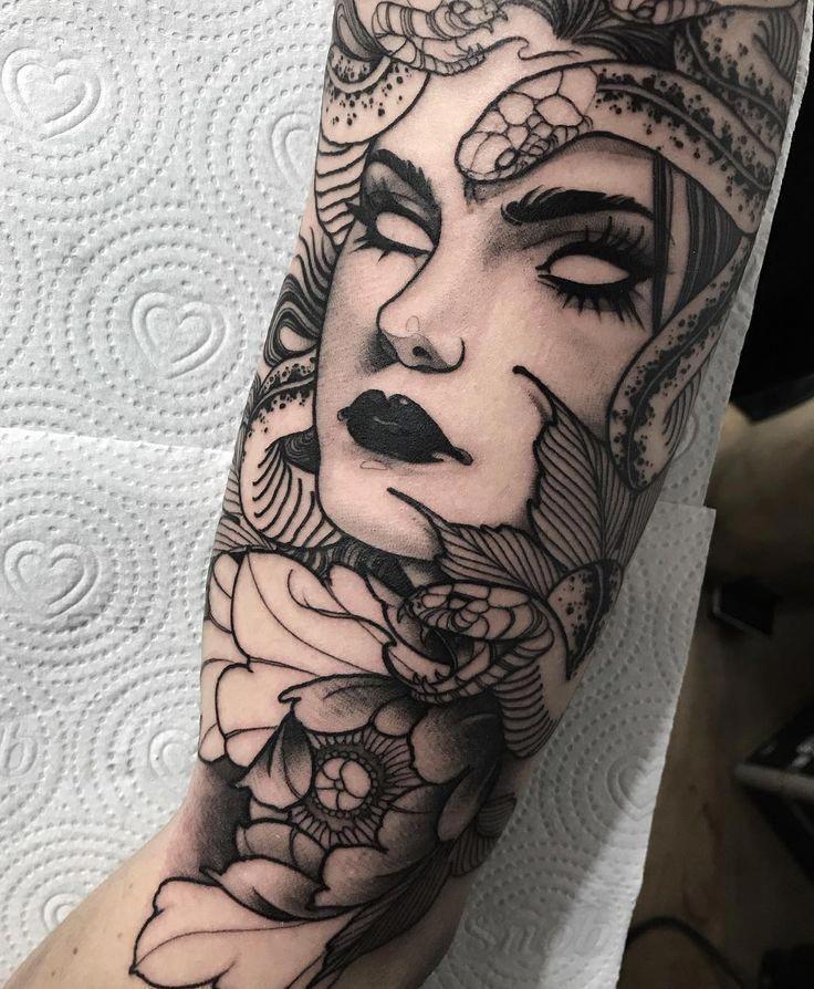 Pin by Sj on TATTOOS in 2020 Mythology tattoos, Medusa