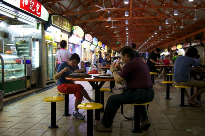 hawker food market, Singapore