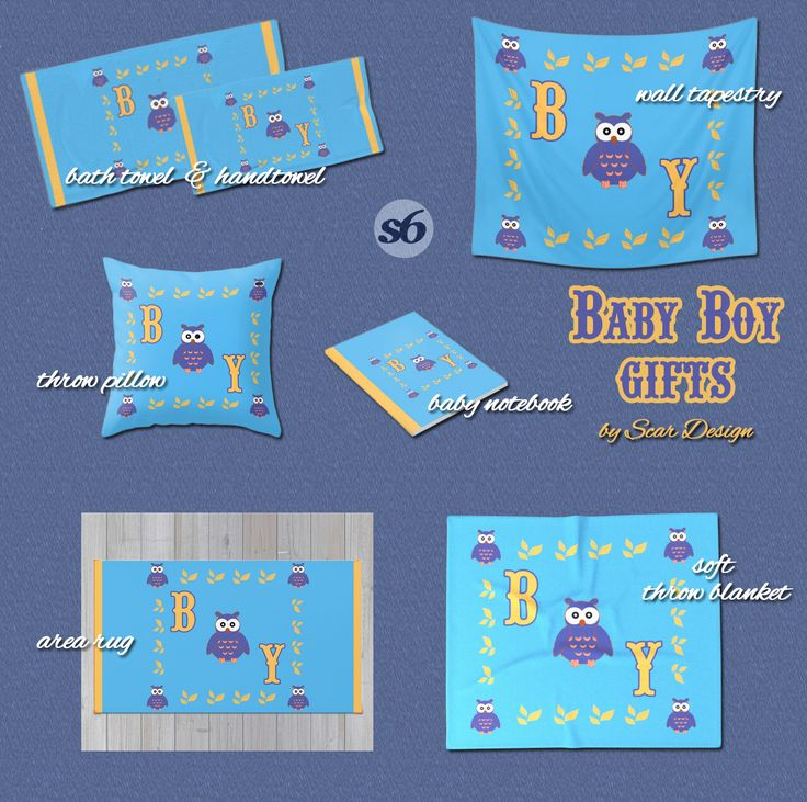 Owl Baby boy Gifts by Scar Design. #baby #babygifts #babyshower #owl #kidsroom #kids #family #babyblanket #babyboy #babynotebook #babyrug #babywalltapestry #owlpillow #discount #save #sales #scardesign #society6 #happy #colorful #kidsgifts
