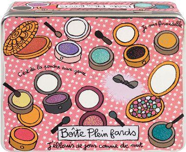 Plåtburk Puder/Smink Rosa