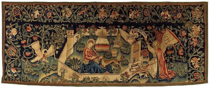 """tapisserie vallée du rhin ou bâle (?) """"l'annonciation"""