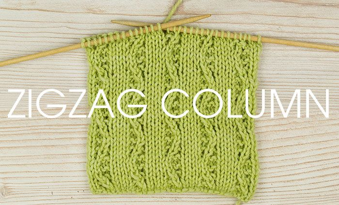 Tutorial Zigzag Knitting : Zigzag column stitch knitted lace pinterest columns