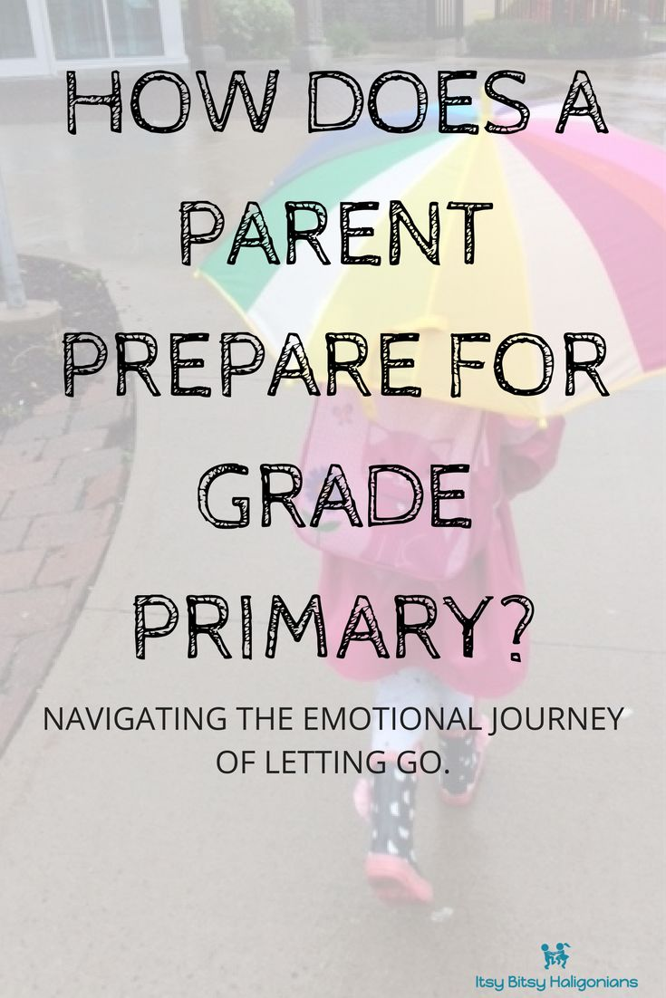 How does a parent prepare to let their child start grade primary or kindergarten. Thoughts on navigating this emotional journey.