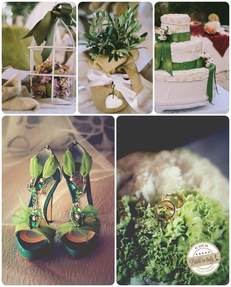 Green + White #wedding theme. Ph Gabriele Parafioriti http://www.brideinitaly.com/2013/10/parafioriti-sicilia.html #italianstyle
