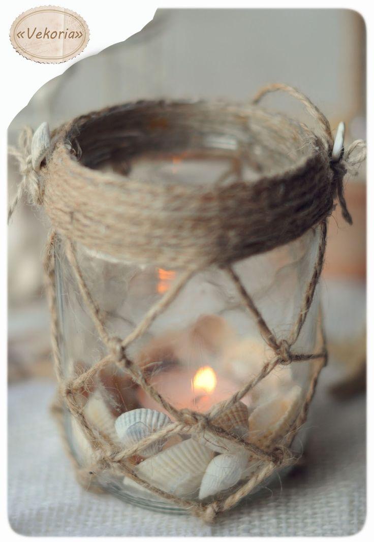 vekoria,виктория сокур,ручная работа,морская тема,морской стиль,морскрй декор,изделия из ракушек,изделия из банок,подсвечник,морской подсвечник,подсвечник из ракушек,морской стиль,ракушки,подсвечник из банки,для морского интерьера,украшение для интерьера,hend made,hand madeof shells,marine candlestick,candlestick out of the jar,shells,