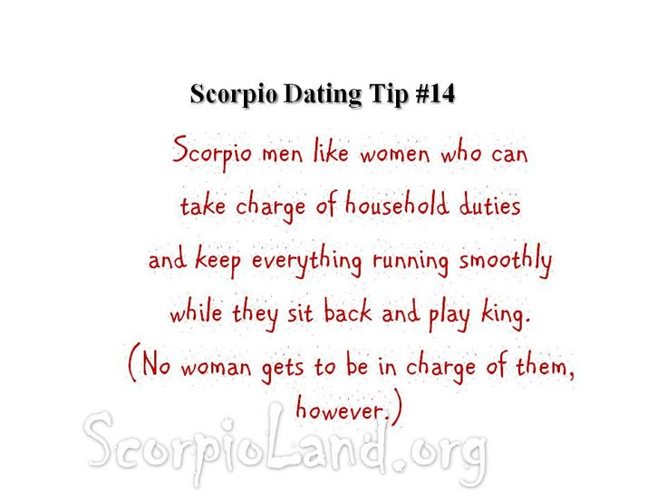 A Know What Scorpio To About Dating