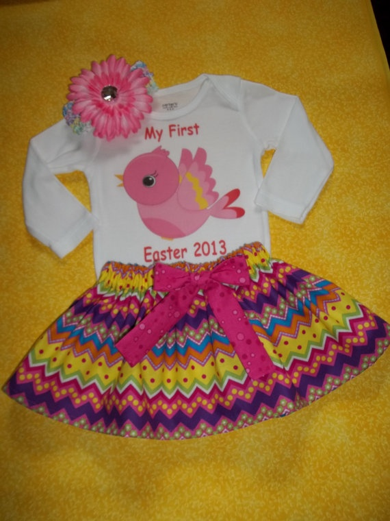 185 best baby easter baskets images on pinterest gift hampers first easter outfit baby girl personalized onesie 1st chick love bird bunny basket dress skirt newborn negle Image collections