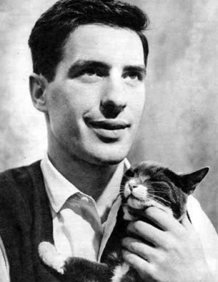 John Cassevetes, ridiculously dishy actor, director, one true love of Gina Rowlands, star of Rosemary's Baby and cat lover.